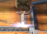Flame cutting…