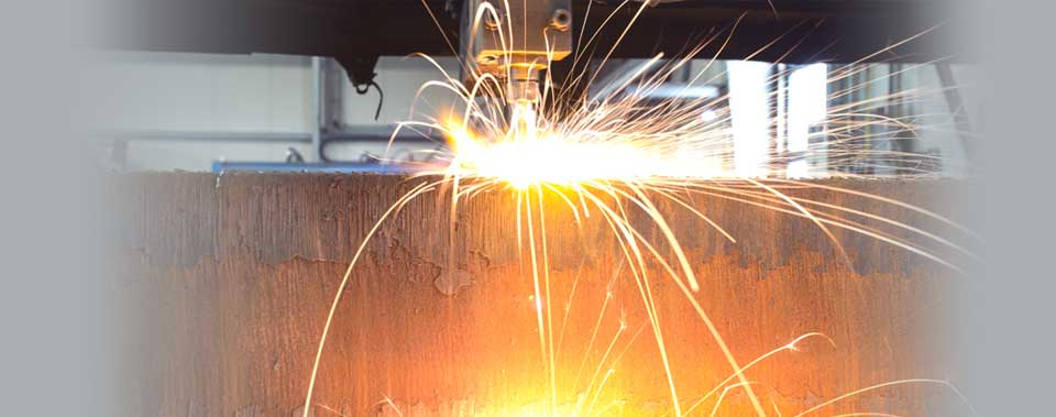 Flame cutting - Production of material cut